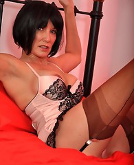 Two naughty TGirls gets to play with special guest Nylon Jane..